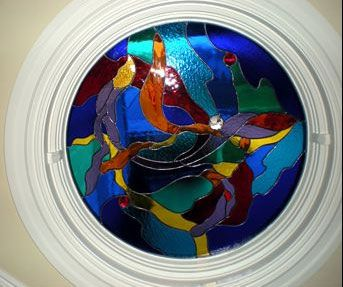 Abstract Circular Stained Glass